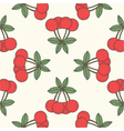 seamless cherry pattern fruit background vector image vector image