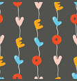 seamless pattern with colorful balloons in line vector image vector image