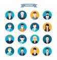 Set of stylish avatars man and woman icons vector image vector image
