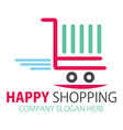 Shopping station or Online purchase logo vector image vector image