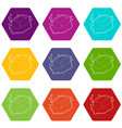 soap icons set 9 vector image