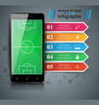 soccer football smartphone - business vector image vector image