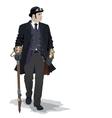 steampunk man vector image vector image