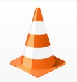 traffic cone icon - repair work plastic barrier vector image vector image