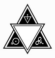 triangular composition with esoteric symbols vector image
