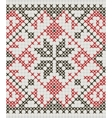 Ukrainian ethnic ornament - cross-stitch vector image
