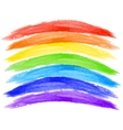 watercolor rainbow on white background vector image vector image