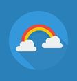 Weather Flat Icon Rainbow vector image