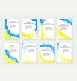 independence day ukraine set of templates vector image