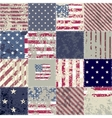 The patchwork of flag USA vector image