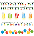 Christmas and party lights vector image