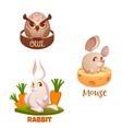 banners with forest animals vector image