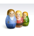 a family dolls vector image