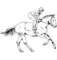 a galloping horse painted with ink hand vector image vector image