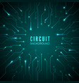 abstract circuit background technological banner vector image