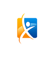 abstract people fitness sport logo vector image vector image