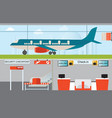 airport infographic design vector image vector image