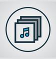 albums colorful outline symbol premium quality vector image
