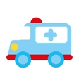 ambulance emergency toy icon vector image vector image