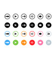 arrows black and white color in colorful circles vector image vector image