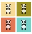 assembly flat icons nature panda bear vector image vector image