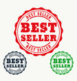best seller rubber stamp sign vector image