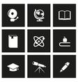 black education icon set vector image vector image