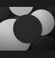 black white and gold abstract circle geometric vector image vector image