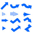 blue arrows icon on white background blue arrows vector image vector image