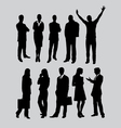 Businessman and businesswoman silhouettes vector image
