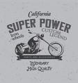 california super power poster vector image vector image