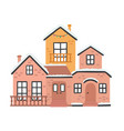 cartoon winter houses vector image vector image