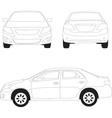 City car vector image vector image