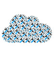 cloud mosaic of tools icons vector image