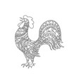 cock bird animal ornament vector image