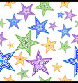 colorful star seamless pattern vector image vector image