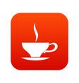 cup of tea icon digital red vector image vector image