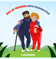 day of person with disabilities concept background vector image