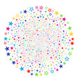 decoration stars exploding sphere vector image vector image