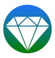 diamond sign white icon in vector image vector image