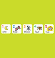 education cards for learning to count from 1 to 5 vector image