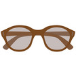 eyeglasses flat style front vector image vector image