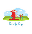 family day landing banner template happy parents vector image