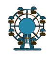 ferris wheel fair or carnival icon image vector image vector image