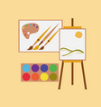 flat icon on stylish background drawing lesson vector image vector image