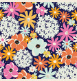 flowers hydrangea aster poppy seamless vector image vector image