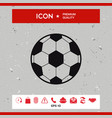 football symbol soccer ball icon vector image vector image