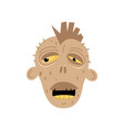 ghost zombie head icon in cartoon style vector image