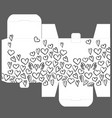 gift box design template with heart pattern vector image