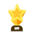 gold star award for rewarding for achievements vector image